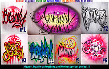 Airbrush Your Name # 1-6 t-shirt custom your name BEST DESIGNS ON EBAY!