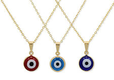 Gold Filled 18k Evil EYE Murano Beads Pendant Amulet Protection Charm & Chain