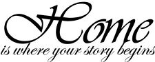 Home is where your story wall decal quote sticker Inspiration Decor vinyl