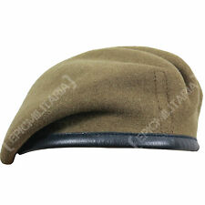 100% Wool BRITISH BERET - All Sizes KHAKI High Quality Military WW2 Army Cap