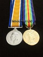 MINIATURE WW1 PAIR BRITISH WAR MEDAL & VICTORY MEDAL MOUNTING OPTIONS