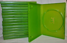 New Genuine Microsoft Xbox 360 Game Case Box Translucent Green DVD CD R Movie
