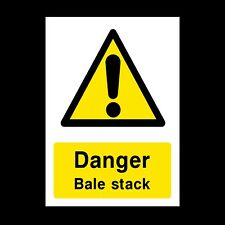 DANGER - BALE STACK SIGNS & STICKERS LARGE SIZES! THICK MATERIALS! FARM (CA26)