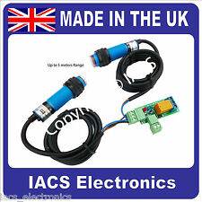 IACS 1 Channel IR Beam 3A Relay Board PEB Infrared Sensor Security 2m Reflective