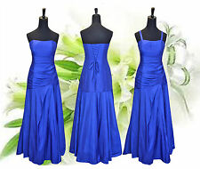 Chaming Taffeta Royal Blue Floor Length Bridesmaid/Evening/Wedding Party Dress