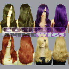 25 inch Heat Resistant ALL COLOR Layer Wavy Cut Face Framing Cosplay Wigs