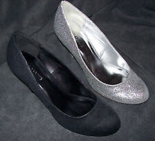 WOMEN'S CALL IT SPRING KAREA PUMPS BLACK OR SILVER MULTIPLE SIZES MSRP$40 NEW WB
