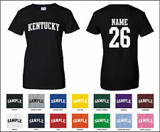 State of Kentucky Custom Personalized Name & Number Woman's T-shirt