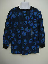 Old Navy Boy's Blue and Black Skull Long Sleeve T shirt Size XS,S,L NWT
