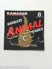 KAMASAN ANIMAL BARBLESS SPADE HOOK - for CARP, BARBEL, TENCH, CHUB ETC
