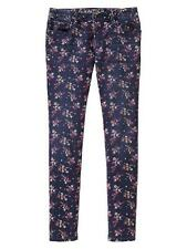 NWT Gap Kids ColorPop Denim 5 Pocket Navy Floral Super Skinny Jeans Pants 6 8