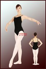 NWT BLACK CAMISOLE DANCE LEOTARD Princess