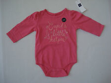 "BABY GAP Girl's Pink ""Cupid's Little Helper"" One Piece  Size 3-6 Mos NWT"