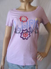 New LUCKY BRAND Womens Purple S/S Crew Graphic Printed Love Tee Shirt Top $29