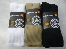 Carhartt socks, work, crew, all season, 3 pairs in pack.  A3208-3. 3 colors