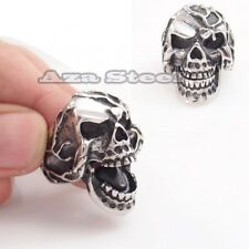 Men's Scary Skull Movable Jaw Stainless Steel Biker Ring Size 7,8, 9,10,11,12,13