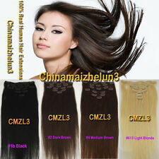"""15""""18""""20""""22""""24""""26""""30"""" 100% Remy Clip In Human Hair Extentions70g-120g Wholesale"""