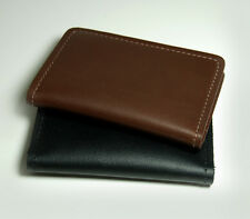 100% full grain Cow Leather Money Clip Wallet with 3 ID/Card Slot - Made in USA