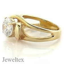 18ct Gold (GP) Solitaire Engagement Ring Set with 1.5CT Cubic Zirconia. RRP $89