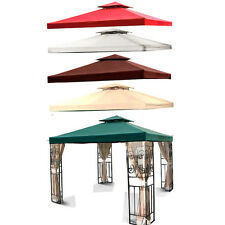 10' X 10' Gazebo Double Tier Top Cover Outdoor Canopy Replacement Patio Yard