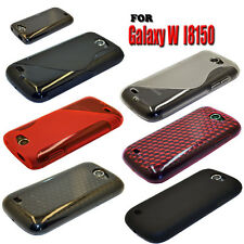 7 COLOUR SOFT RUBBER GEL MOBILE PHONE CASE COVER FOR SAMSUNG GALAXY W GT-i8150