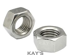 A4 Marine Grade Stainless Steel Full Nuts M3,M4,M5,M6,M8,M10,M12