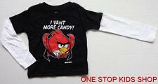 ANGRY BIRDS Boys 12 18 24 Months 4T Long Sleeve Top HALLOWEEN SHIRT Tee Vampire