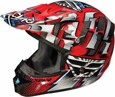 FLY KINETIC DASH OFF ROAD DIRT BIKE HELMET RED WHITE BLACK YOUTH ADULT NEW