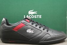 New! Men's Lacoste TELESIO PIT SPM LTH!! BLACK-RED! Sty# 7-25SPM4030-1B5! READY!