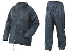 FESTIVAL'DOWNLOAD' NBDS NAVY WEATHERPROOF 2PC RAINSUIT SIZES SMALL to 4XL