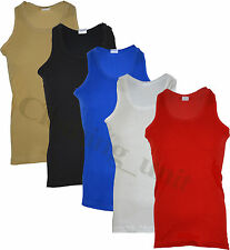 New Mens  Fitted Vests  Pure Cotton Gym Top Summer Training
