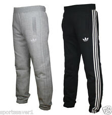 Adidas Originals SPO Mens Fleece Jogging Pants Bottoms Black & Grey Sizes S-XL