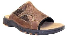 MENS BROWN LEATHER THOM MCAN SLIP ON MULES CASUAL BEACH SANDALS SIZES 6 - 12