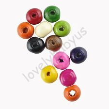 280 Pcs Round Wood Spacer Loose Beads Charms Accessories Jewelry 7 mm Any Color