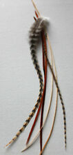 REAL NATURAL GRIZZLY FEATHER HAIR EXTENSIONS