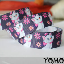 "1""25mm Cartoon Cat Printed Grosgrain Ribbon 10/50/100 Yards Hairbow Wholesale 1"