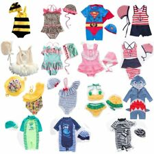 Baby Kids Boy Girl Summer Beach Swimwear Swimsuit Swimming Costume+Hat Set 6M-7T