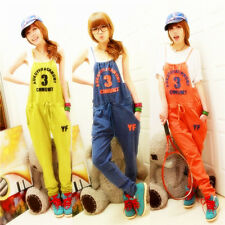 New Women Blue Yellow Orange Cotton Jumpsuit Playsuit Overalls Pants Unbranded