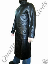 Pure Nappa Leather Matrix Trilogy Trench Coat QLG STYLE GOTHIC PUNK ROCK BLADE