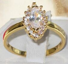Size H L N 4 6 7   Marquise Engagement RING 1.5ct Yellow Simulated Diamond LR858