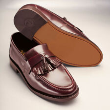 Samuel Windsor Mens Classic Burgundy Slip On Kempton Shoe Leather Uppers & Sole
