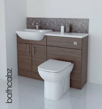 GREY BROWN BATHROOM FITTED FURNITURE 1200MM