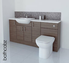 GREY BROWN BATHROOM FITTED FURNITURE 1700MM