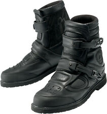 ICON PATROL MOTORCYCLE STREE RIDING BOOTS BLACK MENS WATERPROOF 7-14 ANKLE ARMOR