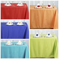 """5 pcs 90x156"""" Polyester Tablecloths Wedding Party Wholesale Table Linens Supply"""