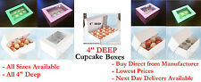 """4"""" Deep Mince Pie Boxes Choose your Colour, Size & Qty Direct from Manufacturer"""