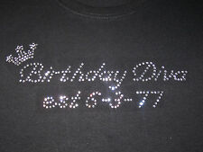 Girls/Youth  Rhinestone Birthday Diva T-Shirt Choose Pink, Black, or White