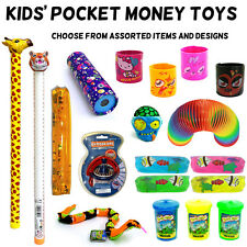 KIDS POCKET MONEY TOYS - Lots of Assorted Items & Designs - Boys / Girls - NEW