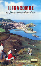 Ilfracombe On Glorious Devon's Ocean Coast vintage Railway Travel poster,1958