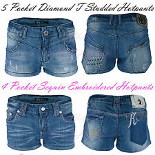 Ladies/Womens Studded/Embroidered Denim Hotpants